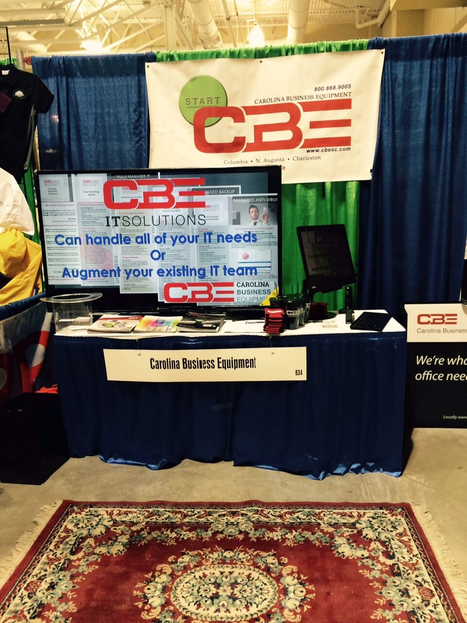 CBE booth at the North Charleston Business Conference and Expo