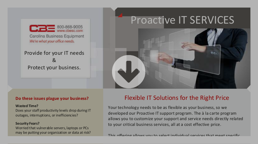 CBE Proactive IT Services Brochure Download