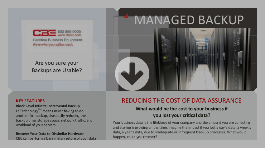 CBE Managed Backup Brochure Download